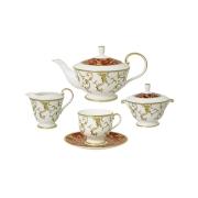 Чайный сервиз из 15 предметов на 6 персон (бел. с красн.) «Анатолия»