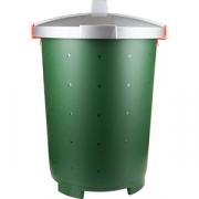 Бак с крышкой «Бинго» D=50, H=55см; зелен. , серый