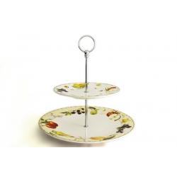 Двухъярусная ваза для фруктов «Фруктовое ассорти»