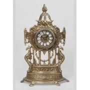 Часы половинки с драконами каштан 40х24 см.