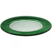 Блюдо «Бэнд» d=32см т.-зеленое
