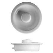 Крышка для чайника «Принцип», фарфор, 1.2л, D=115,H=45мм, белый