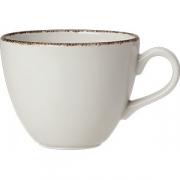 Чашка чайная «Браун дэппл» фарфор; 350мл; белый, коричнев.