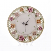 Часы 33x33x7 см. «Цветы»