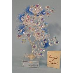 Бонсай с хризантемами синий,22см.