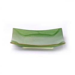 Блюдце квадр. 12.5*12.5см зелен.