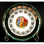 Набор тарелок «Мадонна зеленая» 19 см. 6 шт.