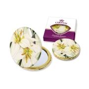 Зеркало карманное Белая лилия