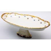 Блюдо овальное 50 см н/н. «Мейсенский цветок»