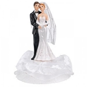 Фигурка жениха и невесты для торта, D=35,H=162мм