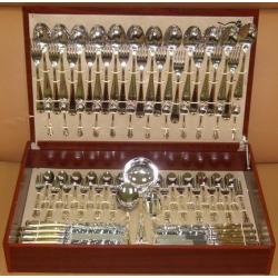 Набор столовых приборов «Atlantico Gold» 75 предметов на 12 персон