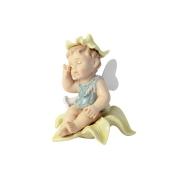 Статуэтка Ангелочек в жёлтом цветке, пробуждение