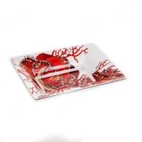Блюдо «Роза Джевел» 12 х9 см. квадратное