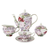 Чайный сервиз из 15 предметов на 6 персон Райский сад в подарочной упаковке