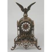 Часы с орлом каштан 37х24 см.