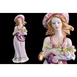 Статуэтка «Девушка с тюльпанами» 23 см