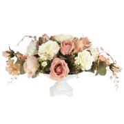 Декоративные цветы Розы и лилиив керамическй вазе
