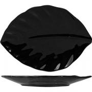 Блюдо-лист 25*18см черн.фарфор