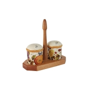 Набор для специй на деревянной подставке Элеганс