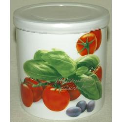 Банка для сыпучих продуктов «Помидоры» 8 см (0,55л)