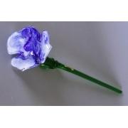 Цветок стеклянный разноцв. (синий + белый)