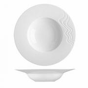 Тарелка глубокая «С-Класс Мелодия», фарфор, 500мл, D=29,H=6см, белый