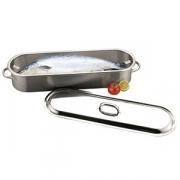 Котел для рыбы, сталь нерж., H=11.6,L=61.6,B=18см