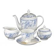 Сервиз чайный 6 перс 21 пр Голубые цветы