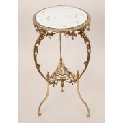 Столик для телефона с зеркалом золотистый 65х28 см.