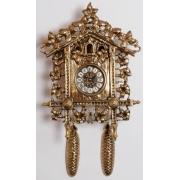 Часы «С кукушкой» золотистый 46х33 см.