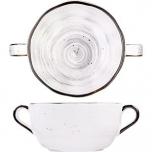 Бульон. чашка с ручк. «Пастораль» D=14.7, H=5.3см; серый