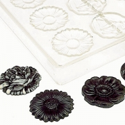 Форма для шоколада «Цветы» [20шт], D=45мм