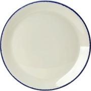Тарелка мелкая «Блю дэппл» D=23, H=1.7см; белый, синий