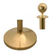 Стойка для ограждения,наконечник-шар; титан; золотой