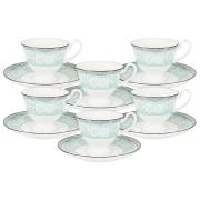 Кофейный набор Прикосновение: 6 чашек + 6 блюдец