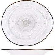 Тарелка мелкая «Пастораль» L=18см; серый