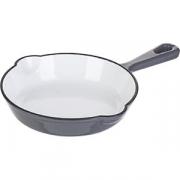 Сковорода порц. D=16, H=3.5см; серый, белый