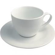 Чайная пара D=19.5см; белый