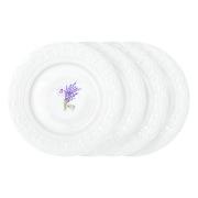 Набор из 4-х тарелок Кружева