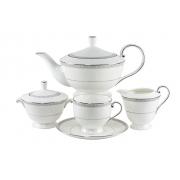 Сервиз чайный 18 пр. на 6 персон «Луна» (с тортницей)