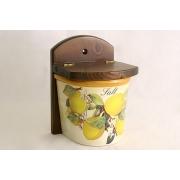 Настенная банка для соли «Итальянские лимоны»