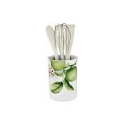 Банка-подставка с кухонными инструментами Зеленые яблоки