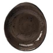 Салатник «Крафт», фарфор, 670мл, H=55,L=280,B=243мм, серый