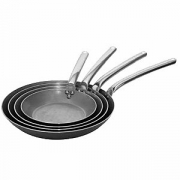 Сковорода, белая сталь, D=32см