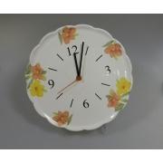 Часы керамические 30см «Магнолия оранжевая»