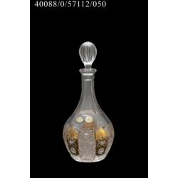 Штоф хрустальный с золотом и лепкой 0.55 л