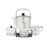 Сервиз чайный 17 предметов «Чёрная Антея»