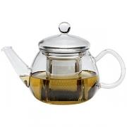Чайник «Прити ти», стекло,нерж., 650мл, H=13.5,L=20.5,B=11.2см, прозр.,серебрян.