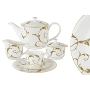 Чайный сервиз Элегия Голд 21 предмет на 6 персон