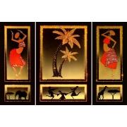 Знойная Африка, 90х60 см, 6543 кристаллов